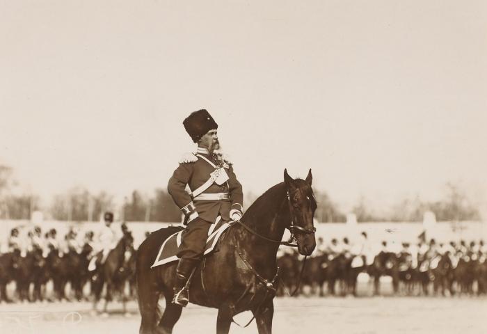 Фотография «Командир 2-й Оренбургской сотни, генерал-майор Л.И. Жигалин Л.И.»/ фот. К.Булла. [Царское Село, 1909].