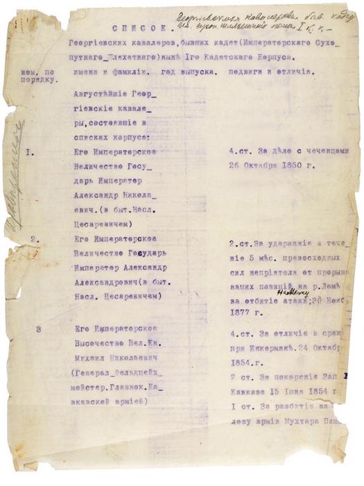 Эмигрантский архив Первого кадетского корпуса, собранный графом Рошфором. [Париж, 1926-1935].