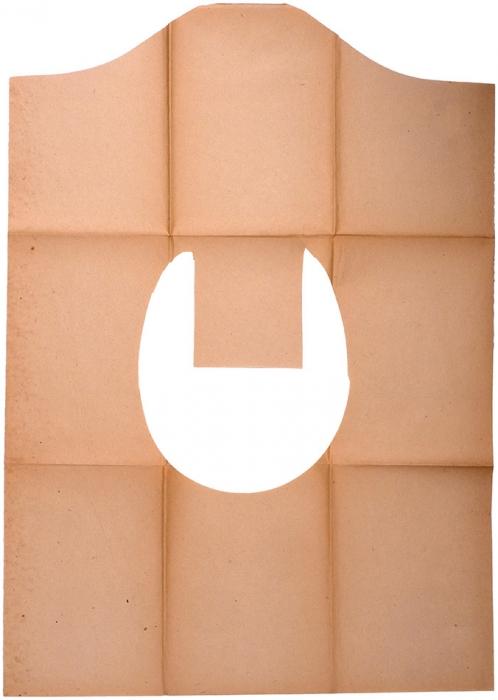 [«...Предохранит тебя отроковых случайностей»] Бумажные покрышки «Шюц» для клозетных сидений. Л., 1926.