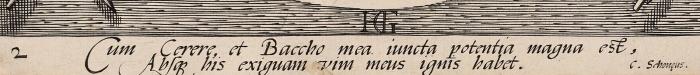 Гольциус Хендрик (Hendrik Goltzius) (1558–1617) «Венера иКупидон». Лист №2изсерии «Бахус, Венера, Купидон иЦерера (Bacchus, Venus and Cupid and Ceres)». 1595. Бумага, резец, 24,5x17,7см (лист обрезан).