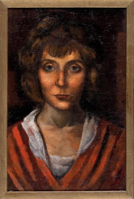 Окс Евгений Борисович (1899-1968) «Портрет жены». 1922. Холст, масло, 45x29,5см.
