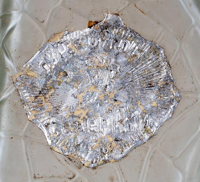 Флакон для одеколона «Северный». Автор эскиза К.Малевич. Середина ХХвека. Стекло. Высота19,5см.
