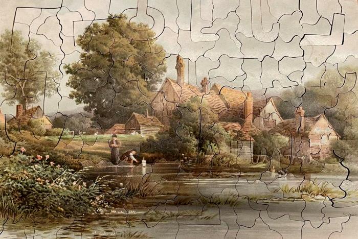 Набор деревянных пазлов знаменитой британской компании Raphael Tuck &Sons. Лондон, 1900-е.