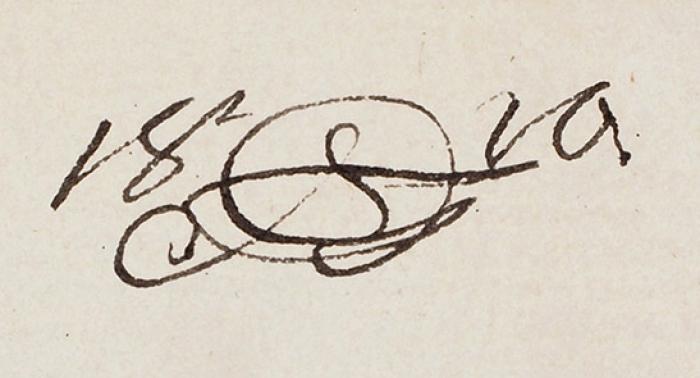 [Изальбома графини Е.М. Рибопьер] Орловский Александр Осипович (1777–1832) «Шляхтич». 1810. Бумага, тушь, перо, 18x13,5см.