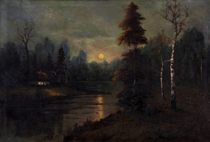 Зотов Александр Александрович (XIX—начало ХХ) «Летняя ночь». 1905. Холст, масло, 97,5x143см.