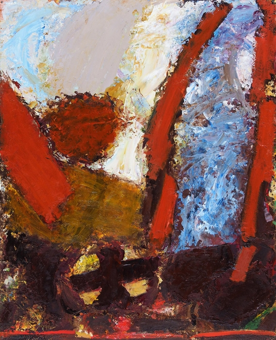 Сахатов Валерий Таганович (род.1947) Изцикла «Земная плоть». 2012. Холст накартоне, масло, 50x40см.