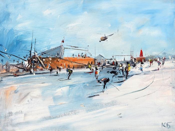 Батынков Константин Александрович (род.1959) «Без названия». 2010-е. Холст, масло, 30x40см.