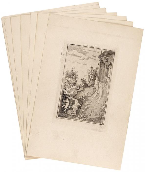 Подборка 7эротических гравюр изредчайшего издания книги Маркиза деСада «Жюстина, или Несчастная судьба добродетели». [1797].