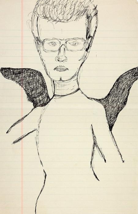 [Изархива семьи Бахчанян] Лимонов, Э. «Автопортрет». Оригинальный рисунок. [М., 1970-е].