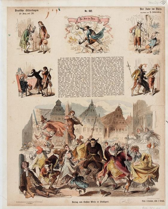 Две карикатуры: «Еврей втерновнике» и«Рапунцель». [Нанем.яз.]. [1850-1870].