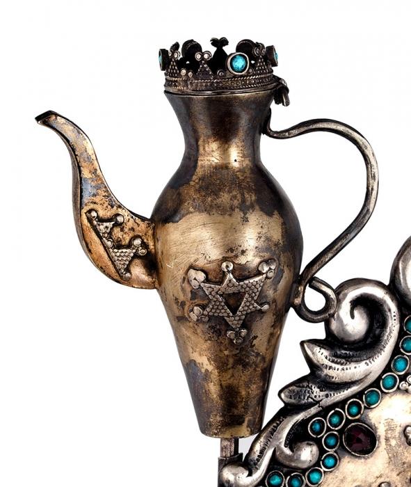 Ханукия спавлином встиле историзм. Москва, до1896года.