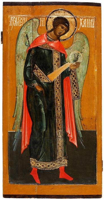 [Небесный защитник Романовых] Икона Архангела Михаила издеисусного чина. Верхнее Поволжье, вторая четверть XVIIвека.