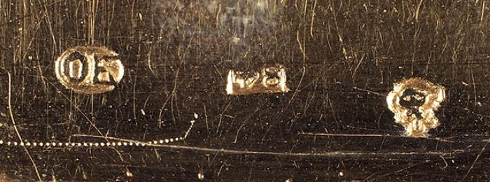 Табакерка сизображением батальной сцены времен Императора Александра II. [Б.м., середина XIXв.].