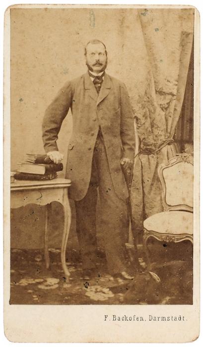 Кабинетная фотография императора Александра II/ фот. F.Backofen. Дармштадт: Hofmaler &Photograph, [после 1856-1881].