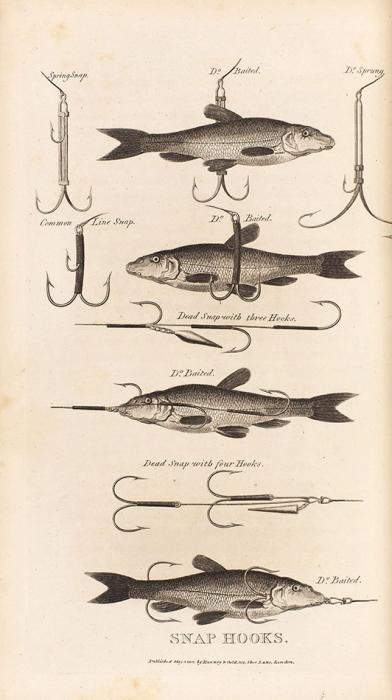 [Более 80гравюр] Дэниел, В.Б. Сельский спорт. [Охота ирыбалка]. [Rural sports. Наангл.яз.]. В3т. Т. 1-3 + доп. Б.м.: Publ. Bunny &Gold; Printed forB &RCrosby &C°, 1801-1813.